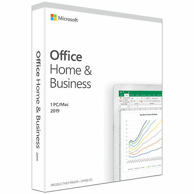 Microsoft Office Home & Business 2019 [1PC/Mac] - Word, Excel, PowerPoint,