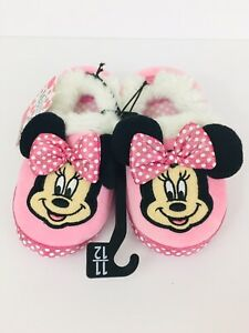Disney Minnie Mouse Bedroom Slippers Girls Size 11/12 ...