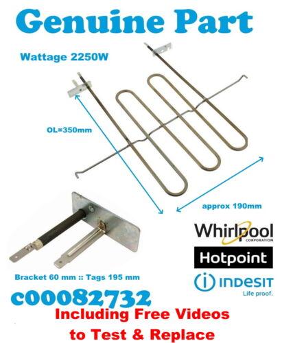 Hotpoint SY37W//1 SY37X SY37X//1 Genuino Elemento Grill