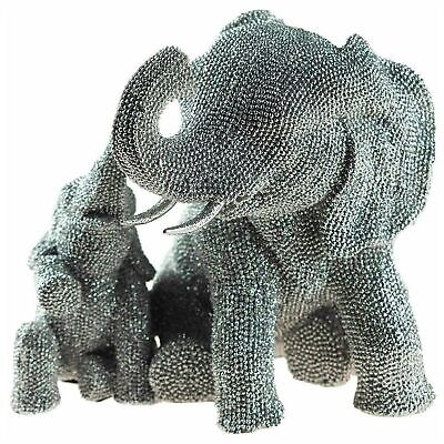 SILVER ART ELEPHANT DECORATIVE ORNAMENT GIFT BOXED BY THE LEONARDO COLLECTION