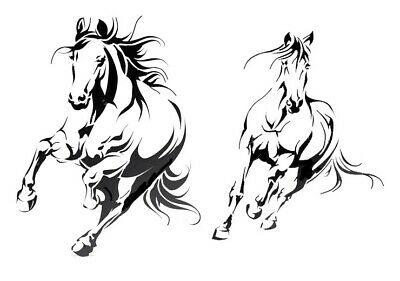 high detail airbrush stencil horse running FREE UK  POSTAGE