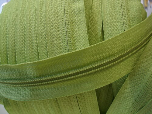 5 mm hellgrün 5 Meter endlos Reißverschluss