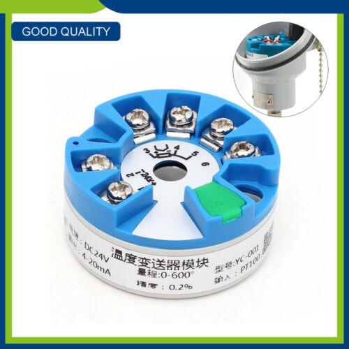 0-600°Smart Integrated Temperature Sensor Transmitter Module Output 4-20MA PT100