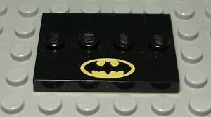 Lego Platte 3x4 Schwarz mit Dekor Batman 2 Stück 2566