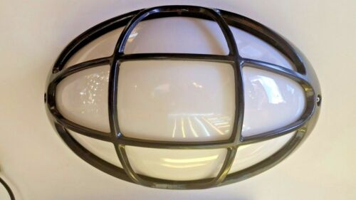 Large Spiderman LED OVAL EXTERIOR WALL Bunker LIGHT OUTDOOR E27 LAMP Black