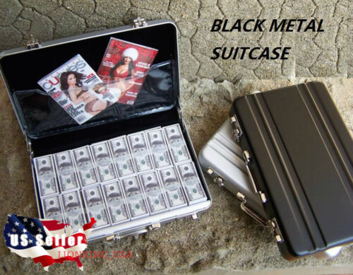 1/6 Metal Briefcase Cash Box BLACK For 12 Hot Toys Barbie Phicen Figure USA
