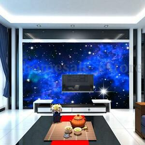 Image Is Loading Modern 3D Night Clouds Star Wallpaper Bedroom Living