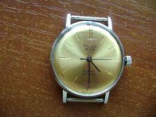 POLJOT-DE-LUXE - USSR vintage men's ULTRA THIN mechanical wristwatch - RARE