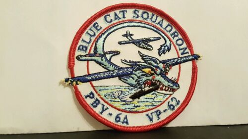 Navy BLUE CAT SQUADRON Color Patch 3 12 x 3 34 inches