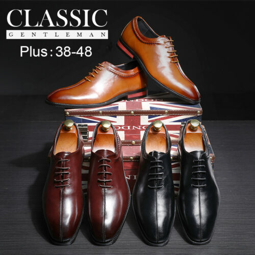 Leather Dress Shoes Men Casual Oxfords Square head Business Formal Office Work