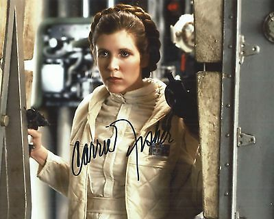 CARRIE FISHER AUTOGRAPH NICE LEAH 8 X 10