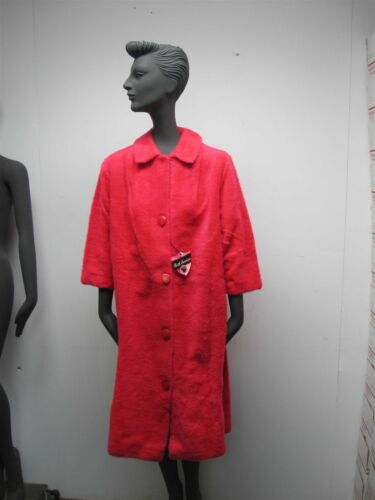 VTG 1950s WOMENS HOT PINK FURRY SOFT ACRYLIC BATHR