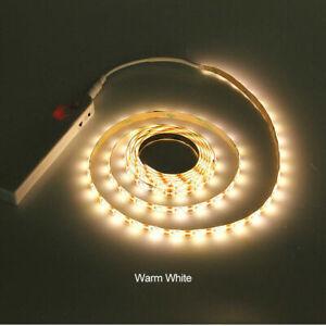 1//2//3m LED Stripe mit PIR-Bewegungsmelder Lichtband Streifen Batteriebetrieb DHL