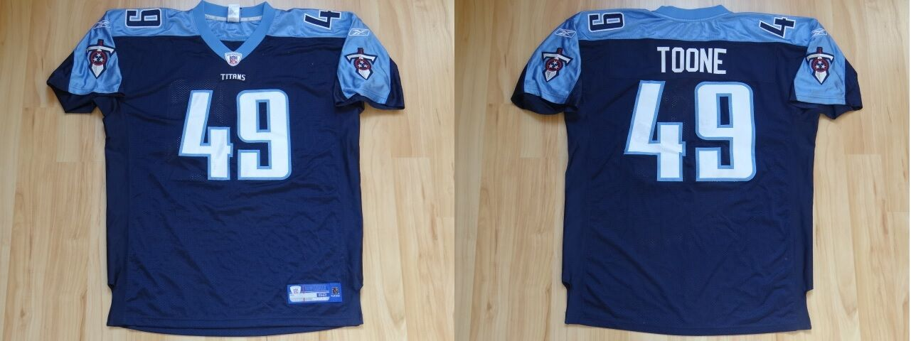 NFL Authentic Football ONFIELD Jersey Trikot TENNESSEE TITANS Toone Nr 49 navy