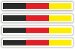 4x autocollants rayures de drapeau allemagne sticker vinyl auto laptop velo moto ebay. Black Bedroom Furniture Sets. Home Design Ideas
