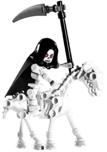 Loose Castle Mini Figure LEGO Skeleton Reaper W// Horse