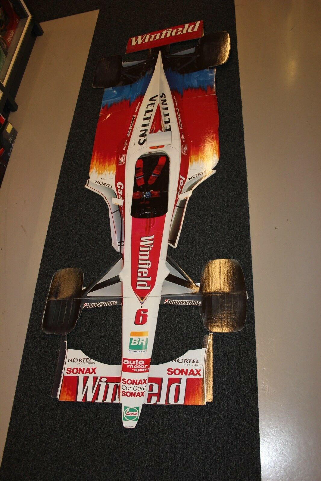 Cardboard model Winfield Williams Supertec FW21 1999  6 Schumacher (238 cm )