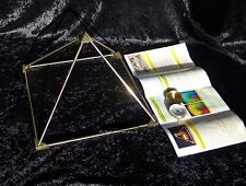 Energie Pyramide c.3 Messing 30cm Pyramid energy Pyramidenenergie Orgon zerlegb.