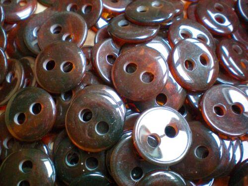 23mm 28mm 34mm 38mm marron effet de carapace de tortue 2 trous manteau boutons CB19-CB22