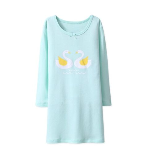 Girls Nightdress Nightie kid Pyjamas Cotton Long sleeve Nightwear Age 2-10 Years