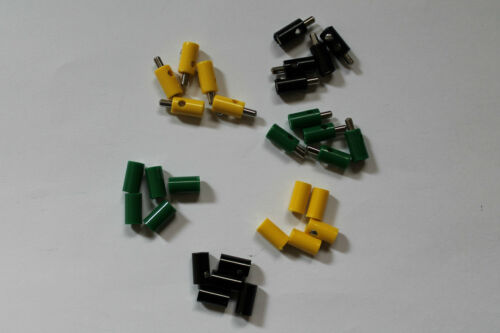 Pcs. Model Railway cross Hole Plug and Banana Sockets; Sorted; New 30 Piece;
