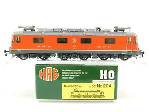 HO-Scale-HAG-204-SBB-Swiss-Neuhausen-Re-6-6-European-Electric-Loco-11610