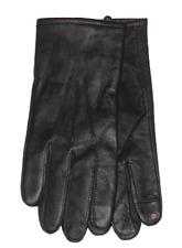 $135 CLUB ROOM MEN'S BLACK LEATHER CASHMERE CASUAL DRESS TECH GLOVES SIZE M