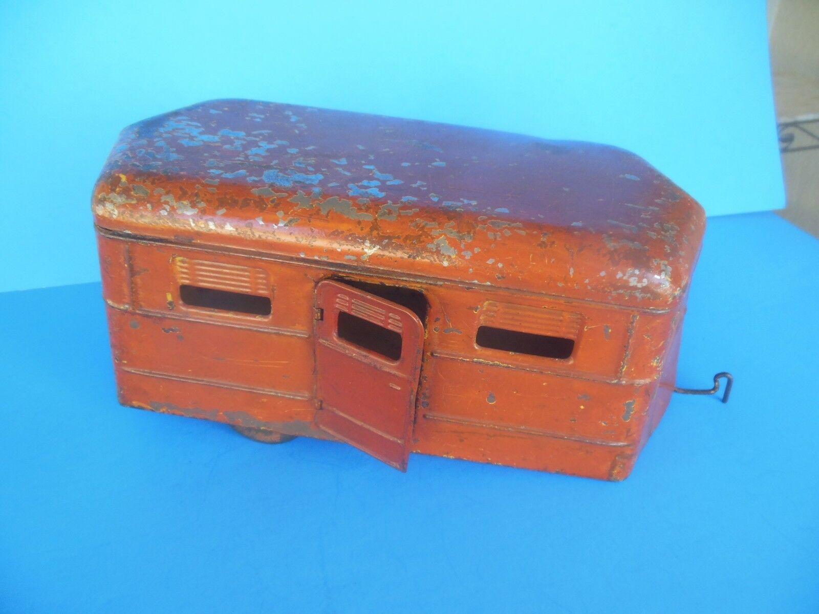 RARE 1930s KINGSBURY New Hampshire Metal Trailer Camper RV Caravan Toy Model