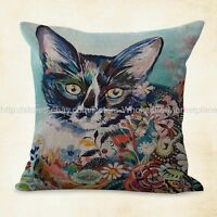 Us Seller, Pillow Cushion Covers Colorful Animal Cat Cushion Cover