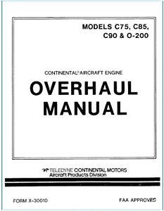 Continental Engine C75 C85 C90 O 200 Service Manual Parts Owner 3 Manuals Ebay