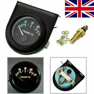 2-034-52mm-coche-puntero-Agua-Temperatura-Temp-Calibre-Medidor-Universal-40-120-LED-Reino-Unido