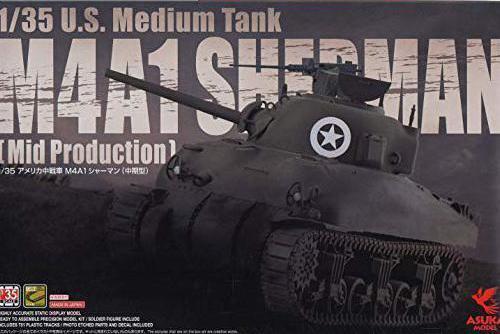 ASUKA MODEL 35-010 US Medium Tank M4A1 Sherman Mid. Production 1 35 Scale