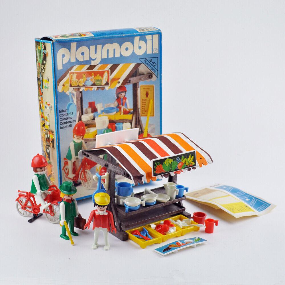 Playmobil System (3486) - Marktstand - Wochenmarkt - Vintage