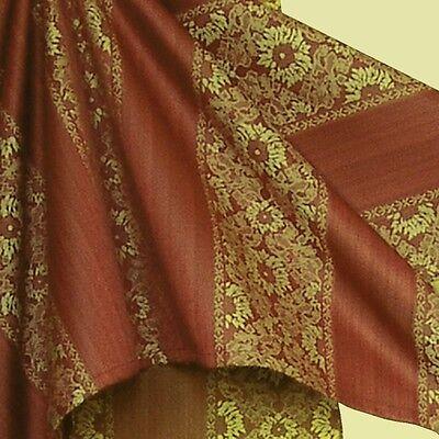 Weihnachten Polyester Jacquard Tischdecke Tafeltuch 130 cm x 170 cm terra-gold