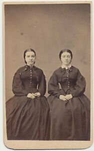 1860s-CDV-Photo-Fashion-Ladies-Sisters-Civil-War-Revenue-Stamp-Oxford-PA-67