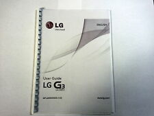 LG G3 - LG-D855 PRINTED INSTRUCTION MANUAL USER GUIDE 118 PAGES