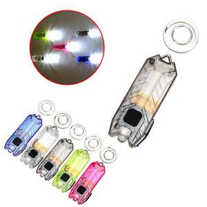 45lm-2-MODES-portable-Lampe-Torche-Rechargeable-USB-lumiere-LED-cle-chaine-bleu