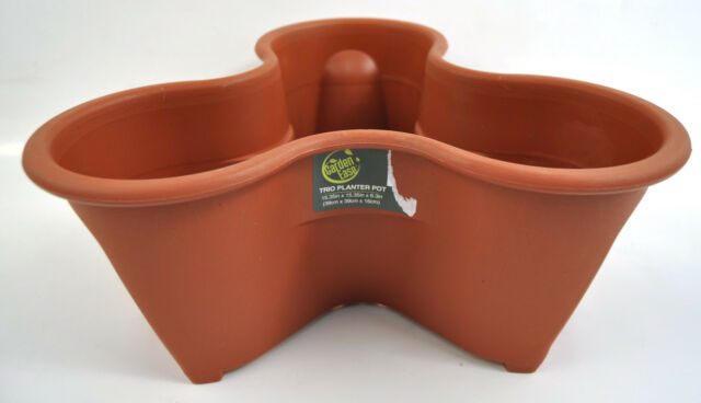 Heavy Duty Stackable Garden Planter Herb Flower Pots Indoor Outdoor Round 1 4 5