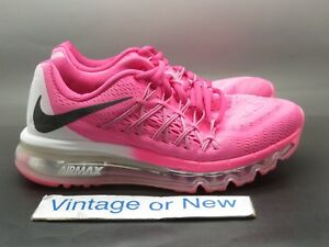 4f00af2a145f Girls Nike Air Max+ 2015 Pink Pow Black White GS Running 705458-600 ...