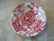Johnson Brothers/England...English Chippendale Berry Bowl........Burgundy/Rose
