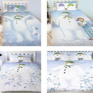 Official-The-Snowman-Duvet-Cover-Single-Double-Reversible-Bedding-Fleece-Blanket