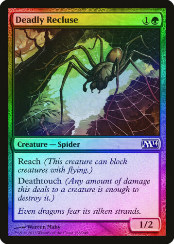 Deadly Recluse FOIL Magic 2014 M14 NM-M Green Common MAGIC MTG CARD ABUGames
