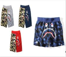 Men/'s Japan Bape Green Shark Jaw Stretchy A Bathing Ape Shorts Cool Beach Pansts