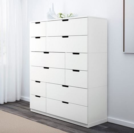 ikea nordli kommode med 12 k b og salg af. Black Bedroom Furniture Sets. Home Design Ideas