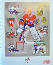 "Patrick Roy # 33 LITO CARD +/- 8X10"" given at his retiring jersey banner night"