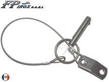 Clavette inox avec Goupille Cable et Plaque de Fixation inox