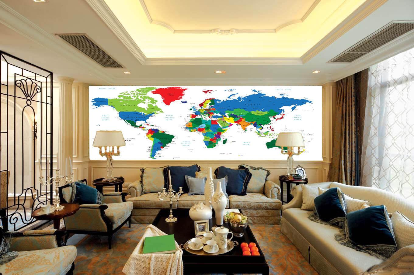 3D Farbe, die nationale karte Fototapeten Wandbild Fototapete BildTapete Familie