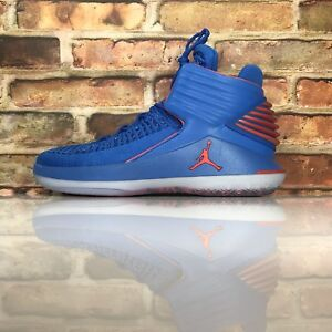 280a7592571 Air Jordan XXXII 32 Mens 10 Why Not Russell Westbrook Blue Orange ...
