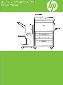 hp laserjet m9040 m9050 mfp service manual contains parts and rh ebay com hp laserjet 9050 mfp user manual hp laserjet m9050 mfp service manual