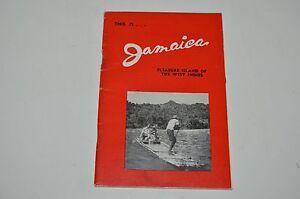 Vintage Mid Century Jamaica Travel Tourist Brochure Booklet Rare